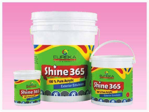 Eureka Paints Shine365 Waterproof Weather Proof Exterior Emulsion